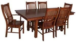 A America Laurelhurst <b>7</b>-<b>Piece Solid</b> Oak Mission Dining Set ...