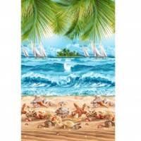 """Полотенце вафельное """"Райский уголок"""", банное, пляжное ..."""