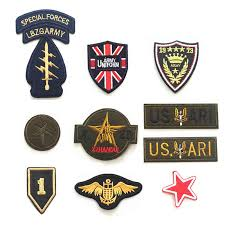 <b>High quality 10pcs</b> military embroidery patch for boy men clothing ...