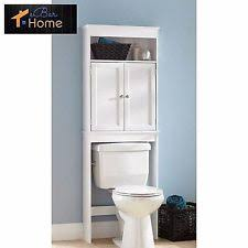 bathroom space savers bathtub storage: over the toilet cabinet bathroom storage wood space saver shelf organizer white