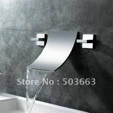 Wall Mount Chrome <b>Bathroom Basin</b> Bathtub <b>2 Pcs</b> Sets <b>Mixer Taps</b> ...
