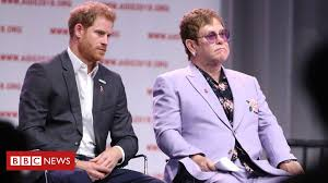 <b>Elton John</b> defends Harry and Meghan's use of private jets - BBC ...