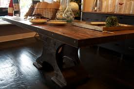 pedestal industrial dining table black  industrial style dining table elegant rustic dining table on pedestal
