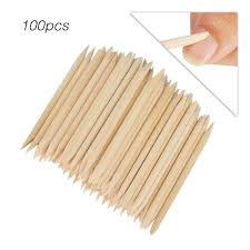 Buy <b>100pcs</b> Disposable Dead Skin Remover <b>Wooden</b> Pusher ...
