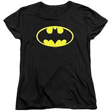 Womens Batman Classic Logo T Shirt for & Stickers ... - Amazon.com