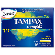 <b>Тампоны Tampax</b> (Тампакс) с аппликатором <b>Compak</b> Regular 16 ...