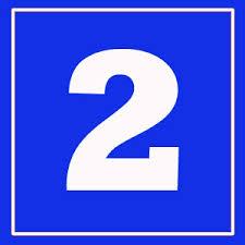 Resultado de imagem para numero 2 azul