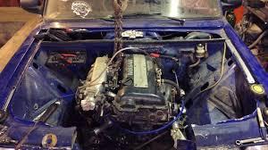 Примерки мотора SR20DET в жигу.<b>Именной</b> вихур.Рейка от ...
