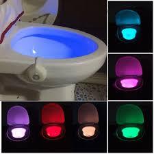 <b>motion activated toilet</b> night <b>light</b> bowl bathroom led 8 color <b>lamp</b> ...