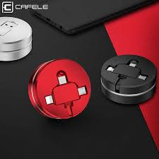 <b>CAFELE Retractable</b> USB Micro cable for iPhone 6 type c charger ...