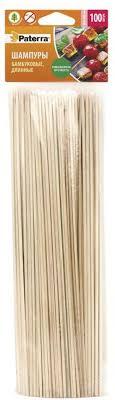 <b>Шампуры</b> для шашлыка, <b>бамбук</b>, 100 штук, PATERRA, d 3 мм ...