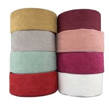 75mm Solid Color <b>Autumn Winter Striped Corduroy</b> Ribbon DIY Hair ...
