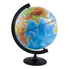 <b>Глобус Глобусный Мир</b> физико-политический рельефный 25 см с ...