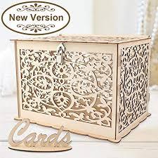 <b>OurWarm</b> DIY <b>Wedding</b> Card Box with Lock <b>Rustic Wood</b> Card Box ...