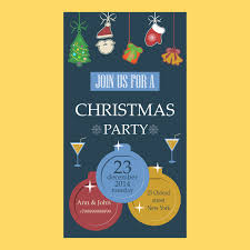 holiday prints parties promos team avalon christmas party invitation flat design