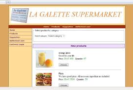 Memoire Online   Online ordering and inventory system   Jean           Product category view screen