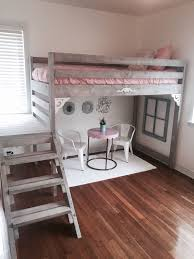 bedroom for girls: ana white loft bed i made for my daughters room