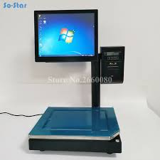 <b>POS System Terminal Machine</b> All in One Dual Touch Screen Cash ...