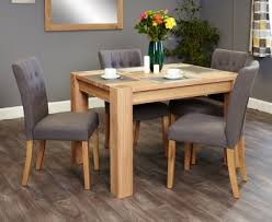 baumhaus aston oak dining set with 4 flare back grey upholstered chairs baumhaus aston oak hidden