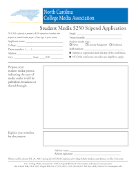 n c college media association unc school of media and journalism propose a student media project and turn in this application at the conference registration desk on feb 25