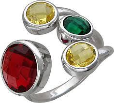 Серебряное <b>кольцо Эстет 01K258034</b> с ювелирным стеклом ...