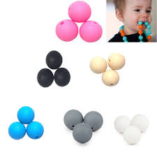 20pcs/pack(<b>12mm</b>) Safety Mom Necklace Chew Beads Baby ...
