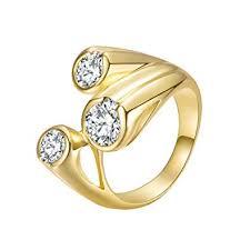 Buy <b>Fashion</b> Women <b>Hollowed</b> Geometric <b>Zircon</b> Knuckle Rings ...