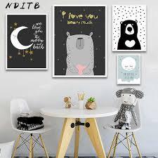 NDITB <b>Woodland Animal</b> Rabbit Fox <b>Canvas</b> Posters Baby Nursery ...