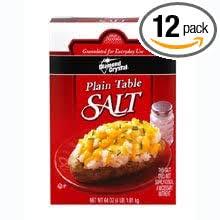 Diamond <b>Crystal</b> Plain <b>Table</b> Salt - 4 lb. box, 12 per <b>case</b>