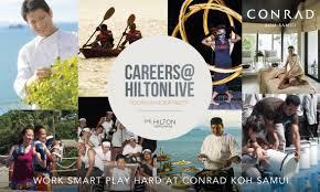 conrad koh samui joins hilton worldwide largest global career careers hilton live youth in