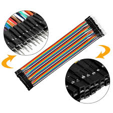 Uxcell <b>2pcs</b> 40pin Dupont Line 50cm Color Rainbow Male to ...