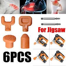 <b>6PCS Percussion</b> Deep <b>Massage</b> Tips & Rod For Jigsaw ...