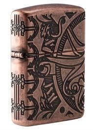 <b>Зажигалка Zippo Armor™</b> с <b>покрытием</b> Antique Copper™ 49000 на ...