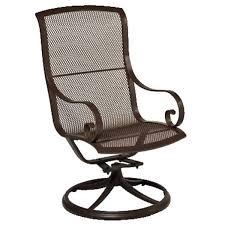 metal patio table chairs mesh furniture