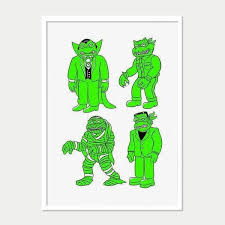 Print Zhang Liang | Universal Monster Turtles - Room Fifty