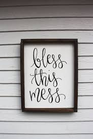 wood sign glass decor wooden kitchen wall: awesome bless this mess wood sign custom wood sign rustic wood sign