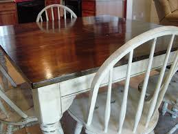 Restaining Kitchen Table Kitchen Table Refinishing Ideas Miserv