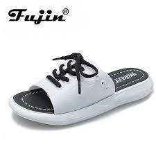 <b>Fujin Brand 2019 New</b> Summer Sandals Women Flat Shoes ...