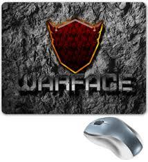 Коврик для мышки Warface Вперёд!(<b>рубин</b>) #1389446 от shockdan