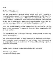 Letter Of Recommendation Template For Teacher