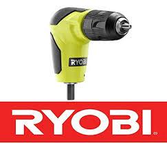<b>New</b> Ryobi 18 Volt <b>Right</b> Angle <b>90 Degree</b> Drill Attachment 3/8 ...