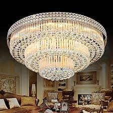 KALRI <b>Modern K9</b> Crystal Chandelier Flush Mount <b>LED</b> Ceiling ...