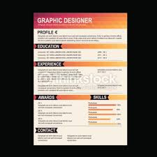 resume template cv creative background vector art   thinkstockcv creative background