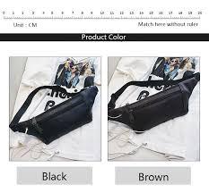<b>QIUYIN</b> Casual Black Chest Bags Girls Shoulder Backpack Waist ...
