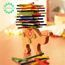 <b>Baby Toys Educational Camel</b> Balancing Blocks Wooden Toys ...