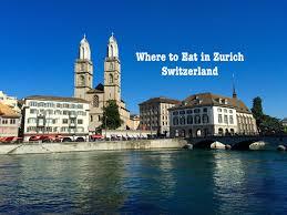 Where to Eat in Zurich