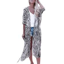 Shisay Womens <b>Sexy Striped</b> Beach Cover Up Long Kimono ...