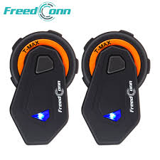 2pcs <b>FreedConn T</b> Max Motorcycle Helmet Bluetooth Intercom 6 ...