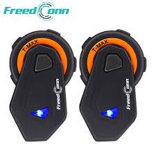 2pcs <b>FreedConn T</b> Max Motorcycle Helmet Bluetooth Intercom 6 ...