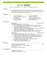 format of teacher resume template format of teacher resume
